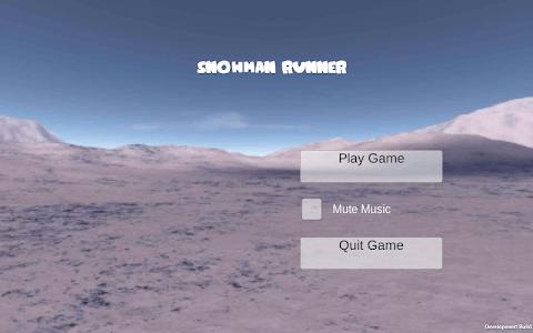 Snowman Runner screenshot 0