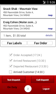 Waiter.com Driver screenshot 1