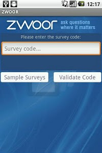 Zwoor Survey screenshot 0