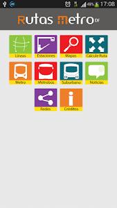 Rutas Metro y Metrobús DF screenshot 0