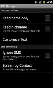 Talking SMS Reader screenshot 4