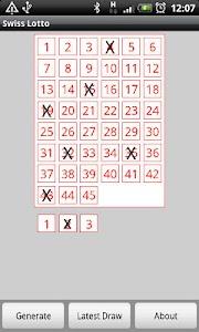 Swiss Lotto screenshot 0