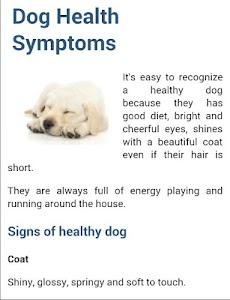 Dog Symptoms Cure screenshot 2
