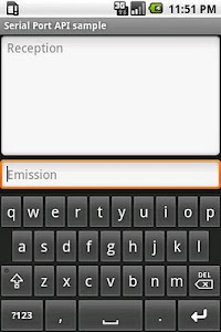 Serial Port API Sample screenshot 1