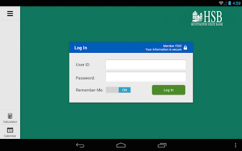 Huntington State Bank Tablet screenshot 1