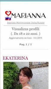 Agenzia Marianna.Ragazze Russe screenshot 1