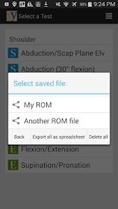 yROM Shoulder Elbow Goniometer screenshot 5