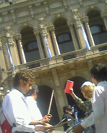 Manifestación en Casa de Gobierno