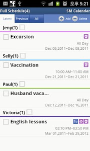 SM Calendar Lite(Schedule) screenshot 3