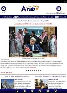Arab Today mini screenshot 9