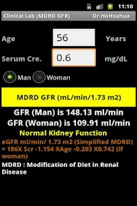 Clinical Lab ( GFR ) screenshot 1