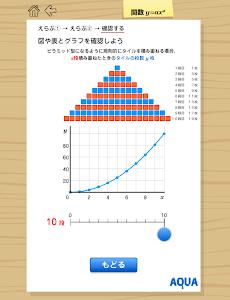 関数y=ax2 さわってうごく数学「AQUAアクア」 screenshot 2