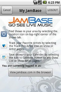 JamBase screenshot 0