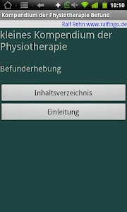 Physiokompendium Befund Test screenshot 3