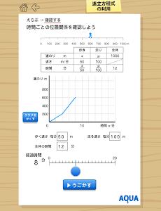 連立方程式の利用 さわってうごく数学「AQUAアクア」 screenshot 0