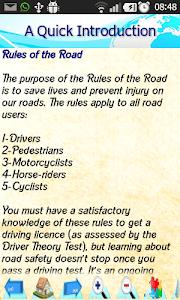 Driving  Rules & Traffic Signs screenshot 2