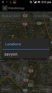 WakeMeApp GPS Alarm screenshot 1