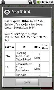 Dublin Bus GPS screenshot 3