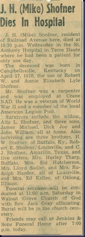 Mike Shofner Obit