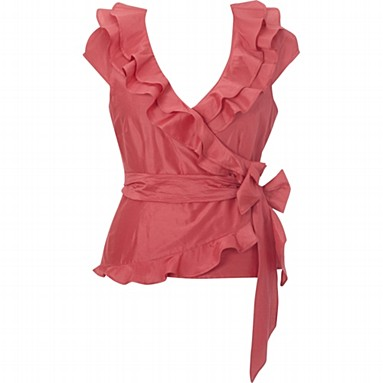 Frilly Pink Wrap Top by Coast
