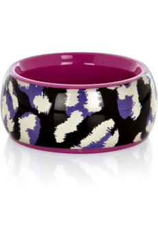 Designer Into the Wild Animal Print Resin Bangle by Marc by Marc Jacobs Blue at Net-A-Porter