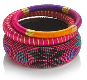 Exotic woven and beaded bangles by Accessorize