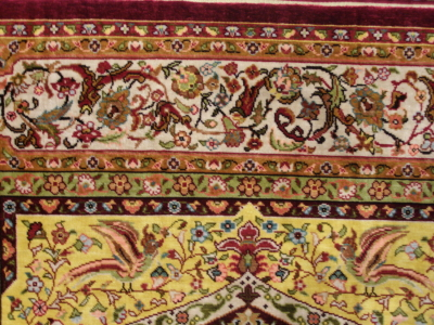 "A Detail of the Hereke silken rug ""Topkapi"""