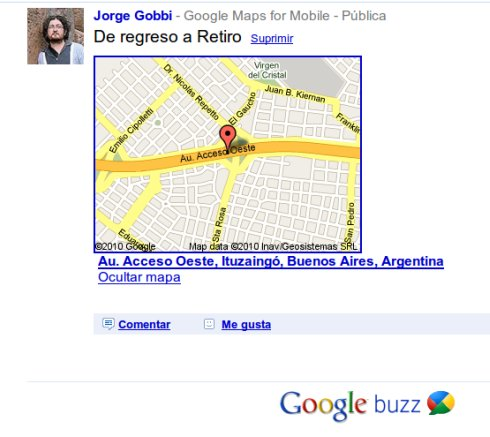 Google Buzz and maps