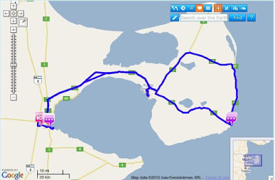 Puerto madryn en GPS