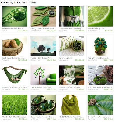 Fresh Green Etsy Treasury
