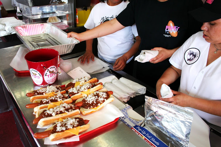 Tray of Chili Cheese Dogs