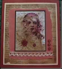 vintage card b
