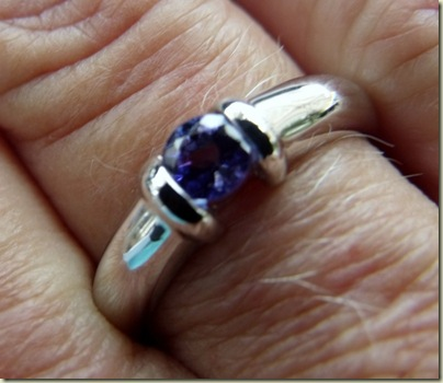 Tanzanite & white gold ring from DeBeers Hermanus Western Cape South Africa