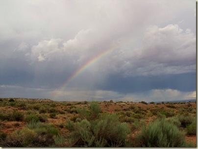 Rainbow from Pipe Springs National Monument Arizona