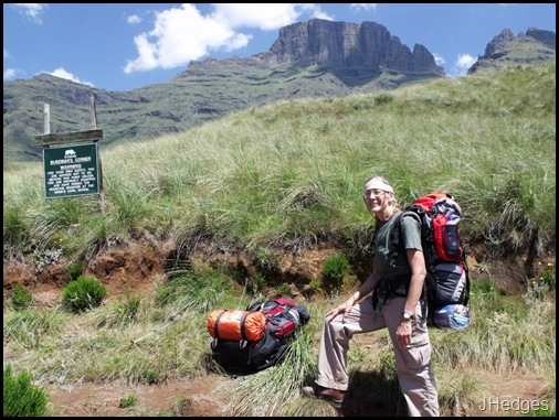 Gaelyn at Blind Man's Corner Drakensberg hike KwaZulu-Natal South Africa
