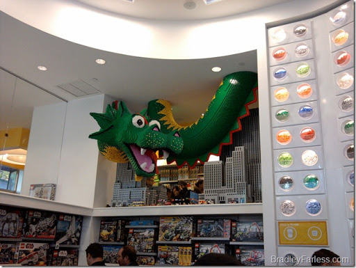 A Chinese dragon built from LEGOs.