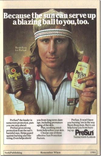 1981 PreSun Sunscreen Lotion Print Ad