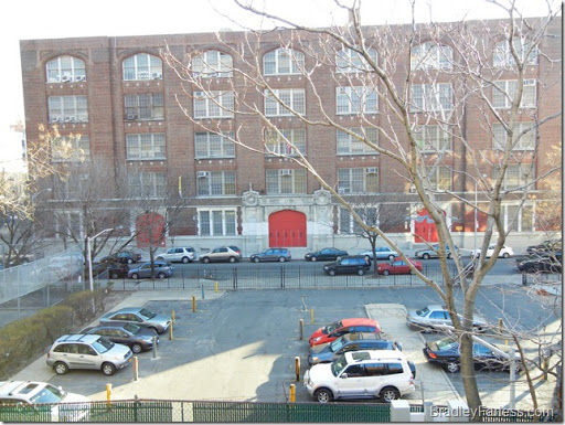 Picture of the school behind our apartment.