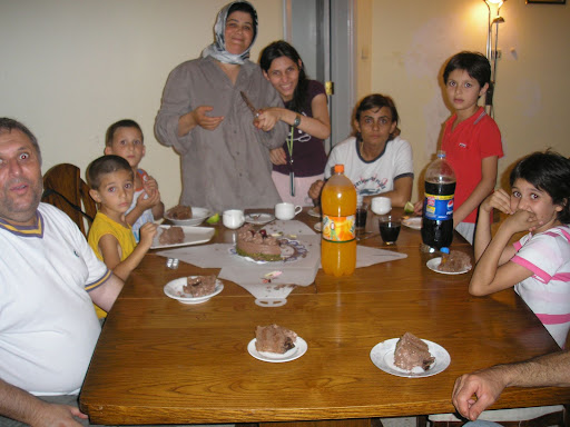 This is the family who were hosting Andre. Notice how there are two wives where normally youd find only one.