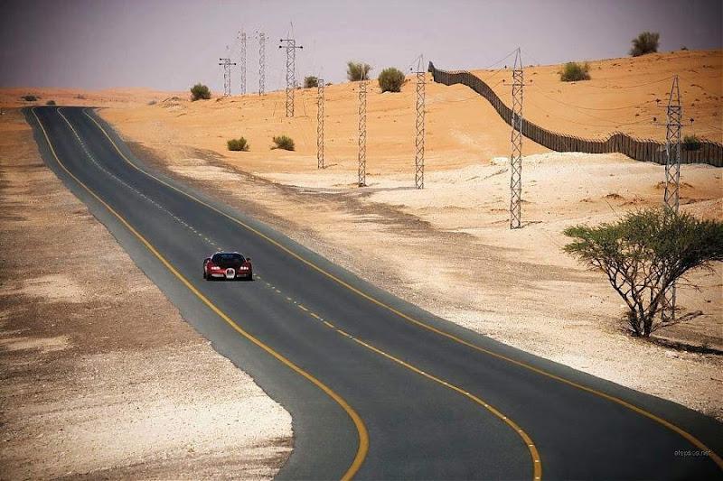 Bugatti Veyron 2009 in Dubai... Checkout the speedometer in the last image... woww!!!
