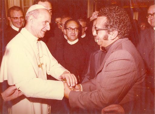 Julio Terrazas con Paulo VI