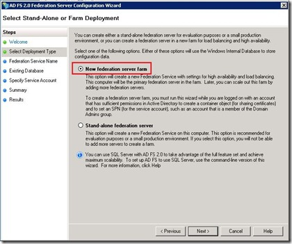 ADFS - management - wizard - farm - markup