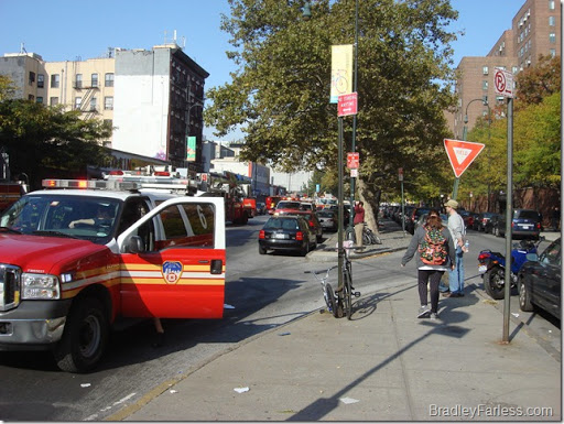 More response vehicles further down the block.