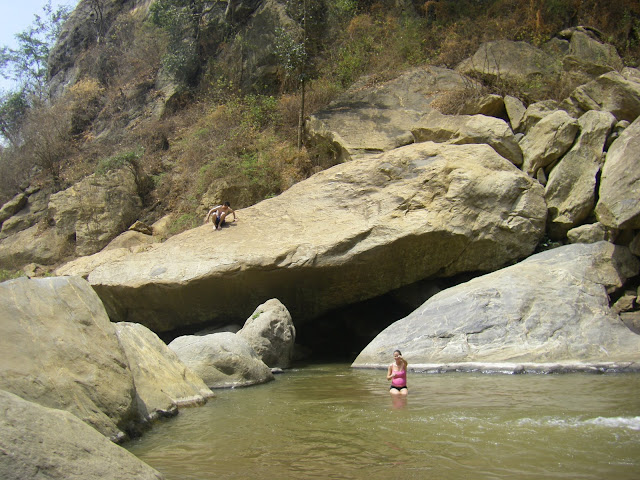 Climbing and swimming