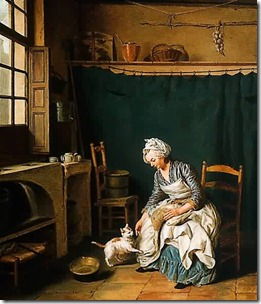 Nicolas-Bernard-Lepicie-xx-Servant-Girl-Plucking-a-Chicken