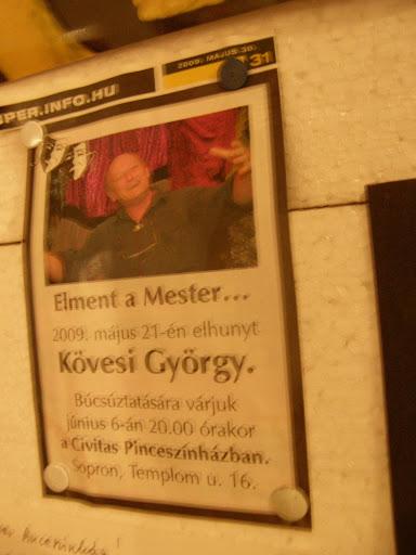 Sopron,  Civitas Pinceszínház, Templom utca, Kövesi György