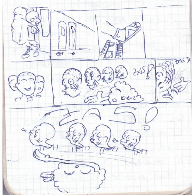 Comic bofetón de calor