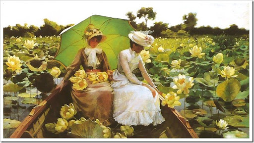 Charles Courtney Curran (1861-1942)   Lotus Lilies 1888.