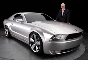 Iacocca with Mustang Iacocca Edition
