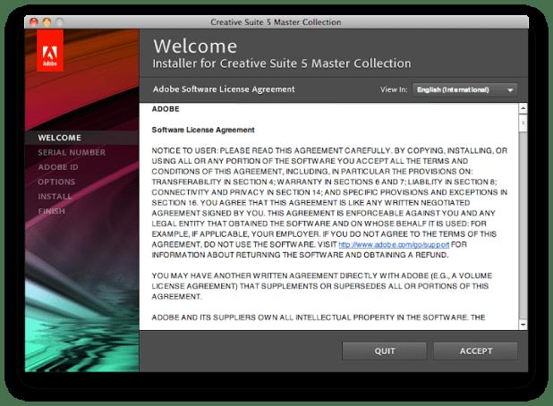 Adobe Software License Agreement